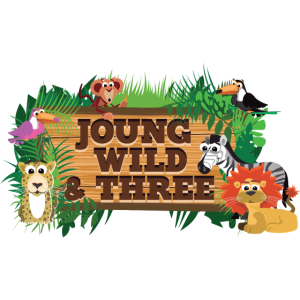 Young Wild And Three Geburtstag Shirt