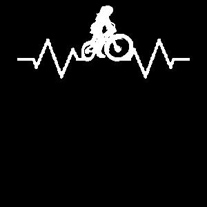 MTB Fahrradfahrerin Herzschlag BMX Damen
