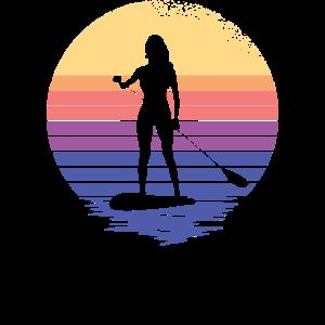 SUP Damen Paddelsurfer Stand Up Paddle supboard