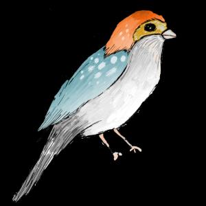Vogel mit Tupfen