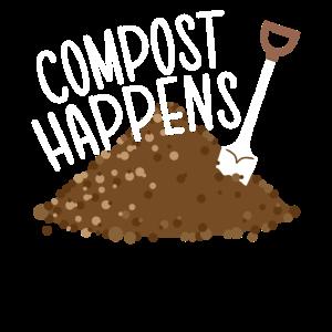Kompost Passiert Gärtner Pflanzen Liebhaber Garten