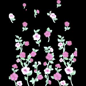 Blumen, pink, Ranken, illustration, floral