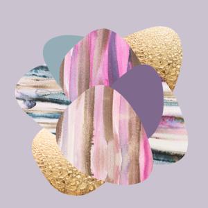 Watercolour stones pink1