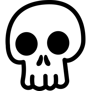 Totenkopf Süß Kawaii