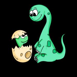 Dinosaurier mit Baby Dinosaurier