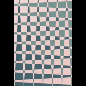 Sage green pink geometric shapes