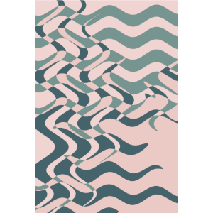 Sage green pink geometric abstract