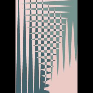 Sage Green Pink Geometric Shape