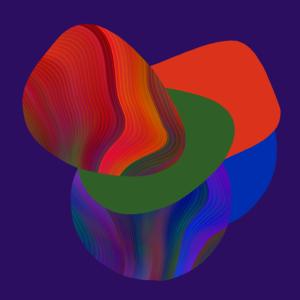 marbled geo shapes purple bg