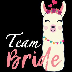 Team Braut Alpaka Junggesellenabschied Freundinnen