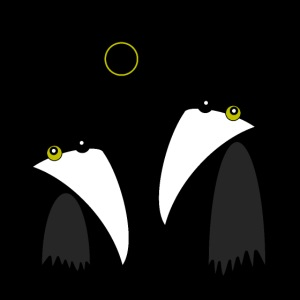 Raving Ravens - lunar eclipse