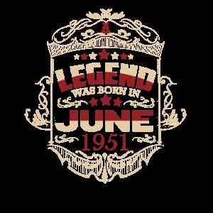 June 1951 Geburtstag Geschenkideen Vintage