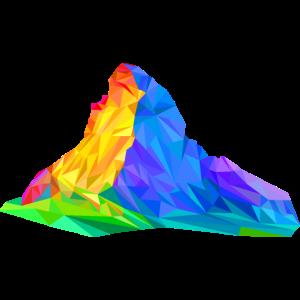 Matterhorn, Berg, bunte Dreiecke, Triangles, Alpen