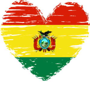 Bolivien Herz Flagge Fahne Wappen