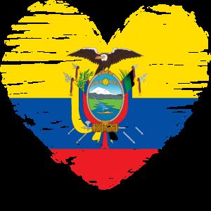 Ecuador Herz Flagge Fahne Wappen