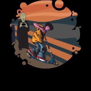 Tretroller Stuntscooter Artists Stunt-Roller