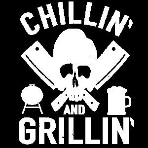 Barbecue Totenkopf Chillin and Grillin BBQ Grillen
