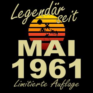 Legendär Mai 1961 Jahr Geburtstag Geschenk