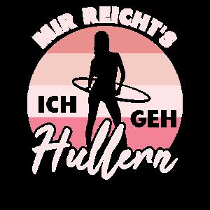 Hullern - Hoop Girl Fitness Hula rosa retro Design