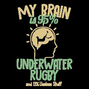 My Brain is 95% Underwater Rugby UWR