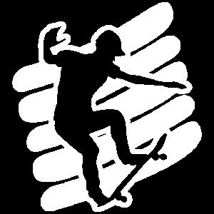 Skatersilhouette Skateboarder Motiv