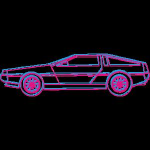 Sportwagen Auto DeLorean _outline _3D