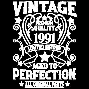 Vintage 30. Geburtstag 1991 geboren vintage look