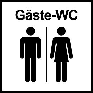 Gäste-WC Sticker, Gäste-WC Aufkleber,
