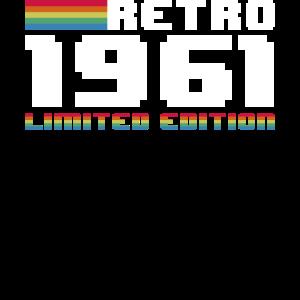 Retro 1961 Geschenk Geburtstag
