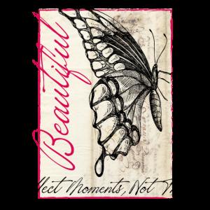Schmetterling Poesie Retro Vintage