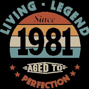 Geburtstag 40 Jahre legend 1981 Geschenk 40 Jahre