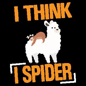 Alpaka Denglisch - I Think I Spider Alpaca Lama