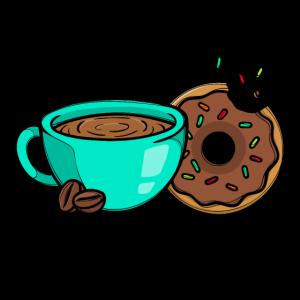 Beste Freunde Statement Kaffee Donuts
