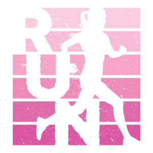 Retro RUN Läufer Jogger Marathon Frauen Mädchen