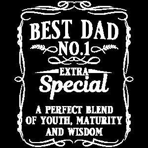 Best Dad No.1 Papa Vater Vatertag Geschenk