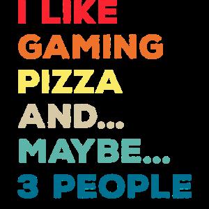 Gamer Gaming Pizza Fastfood Zocker Zocken Lustig