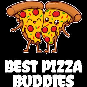 Pizza Buddy Statement Beste Freunde