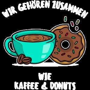 Beste Freunde Kaffee Donuts Statement