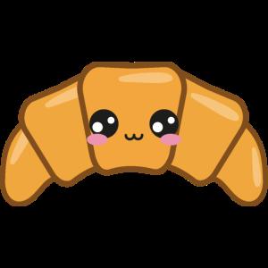 Croissant Süß Kawaii