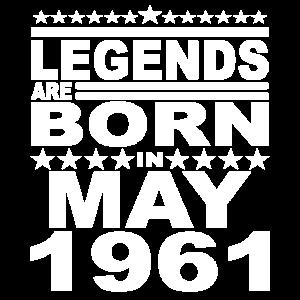 Legendär seit Mai 1961 Jahr 1961 Geburtstag