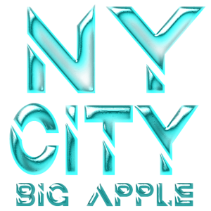 New York Schriftzug Design Retro