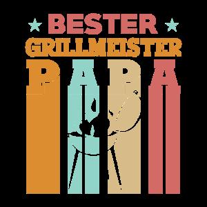 Grill Grillmeister Papa Vatertag Geschenk Vintage