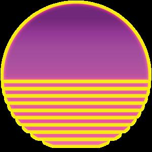 Sonne Retro Vaporwave