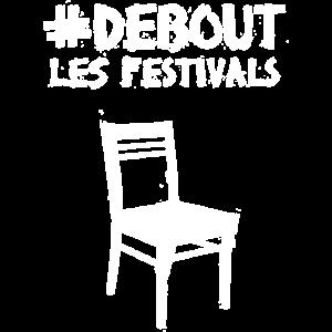#DEBOUTLESFESTIVALS big dark Stuhl