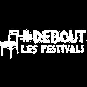 #DEBOUT FESTIVALS Logo Stuhl dark