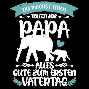 Erster Vatertag - Elefant Vatertagsgeschenk