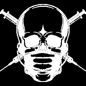 skelett mundschutz arzt