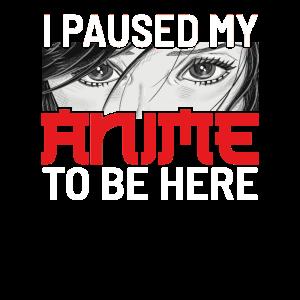 Anime Girl Manga I Paused My Anime To Be Here