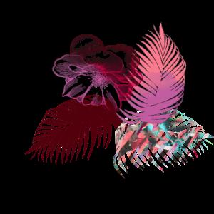blumen,palme, illustration,bunt,pink, lotus,floral