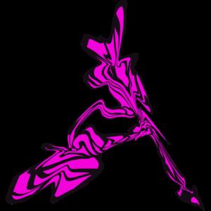 Kunstvoll pink schwarz Schuh Stöckelschuhe Absatz